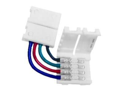Calrad 4-Wire 90-Degree RGB LED Coupler