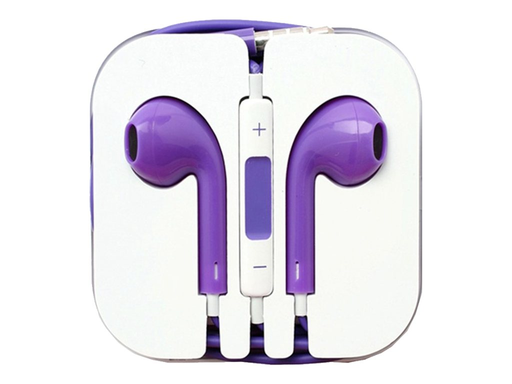 4Xem Apple Earpod Ear Phones - Purple for iPod & iPhone 5 (4-pack), 4XAPPLEARPODPL, 31191786, Headphones