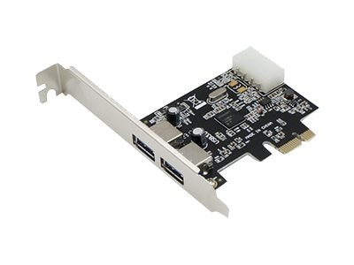 ACP-EP Dual Open USB 3.0 Port PCIe x1 Host Bus Adapter