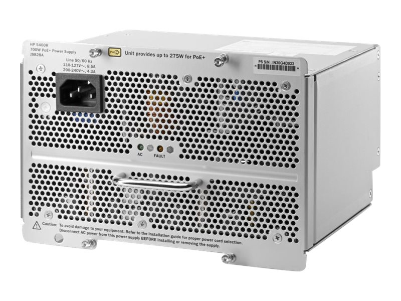 HPE 5400R 700W PoE+ ZL2 Power Supply US