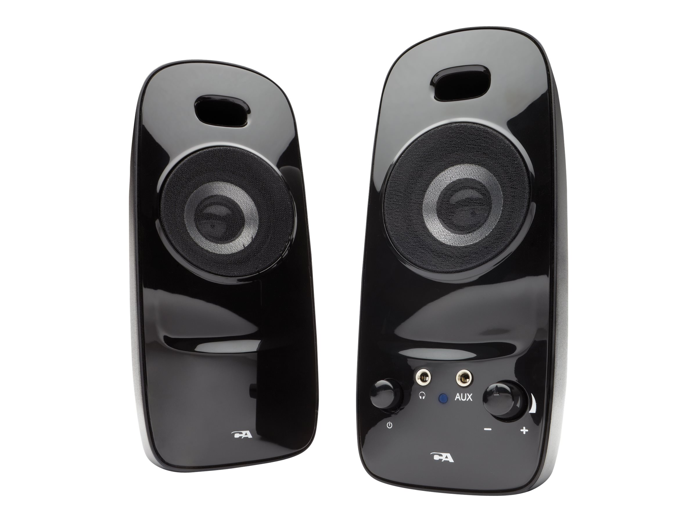 Cyber Acoustics 2.0 Powered Speaker System, CA-2026, 17751433, Speakers - PC