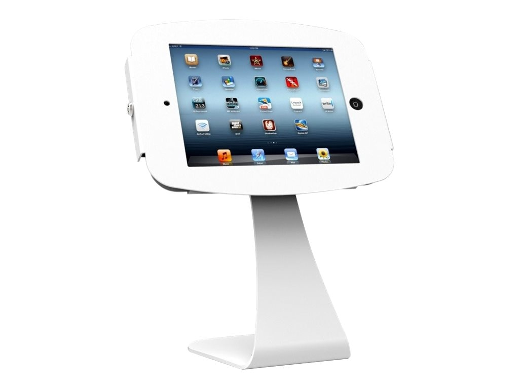 Compulocks Swan Enclosure Kiosk for iPad 2 3 4 Air, White, 179W224SENW