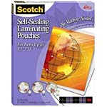 3M Self-Sealing Laminating Pouches for up to 8.5 x 11 - 25-p, LS854-25G, 393212, Paper, Labels & Other Print Media