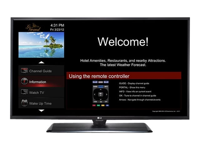 LG 42.5 LX560H Full HD LED-LCD Hospitality TV, Black, 43LX560H, 21403061, Televisions - LED-LCD Commercial