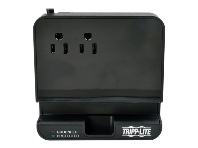 Tripp Lite Protect It! Surge Suppressor Charging Station, (2) Outlet, 6ft Cord, TLP26USBB