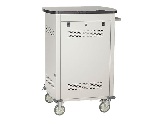 Black Box 36-Unit Charging Cart with Single Frame with Medium Slots and Tambour Door, UCCSM-12-36T