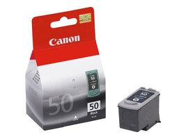 Canon Black PG-50 High Capacity Ink Cartridge for PIXMA MP150 & MX300 Printers, 0616B002, 6384800, Ink Cartridges & Ink Refill Kits