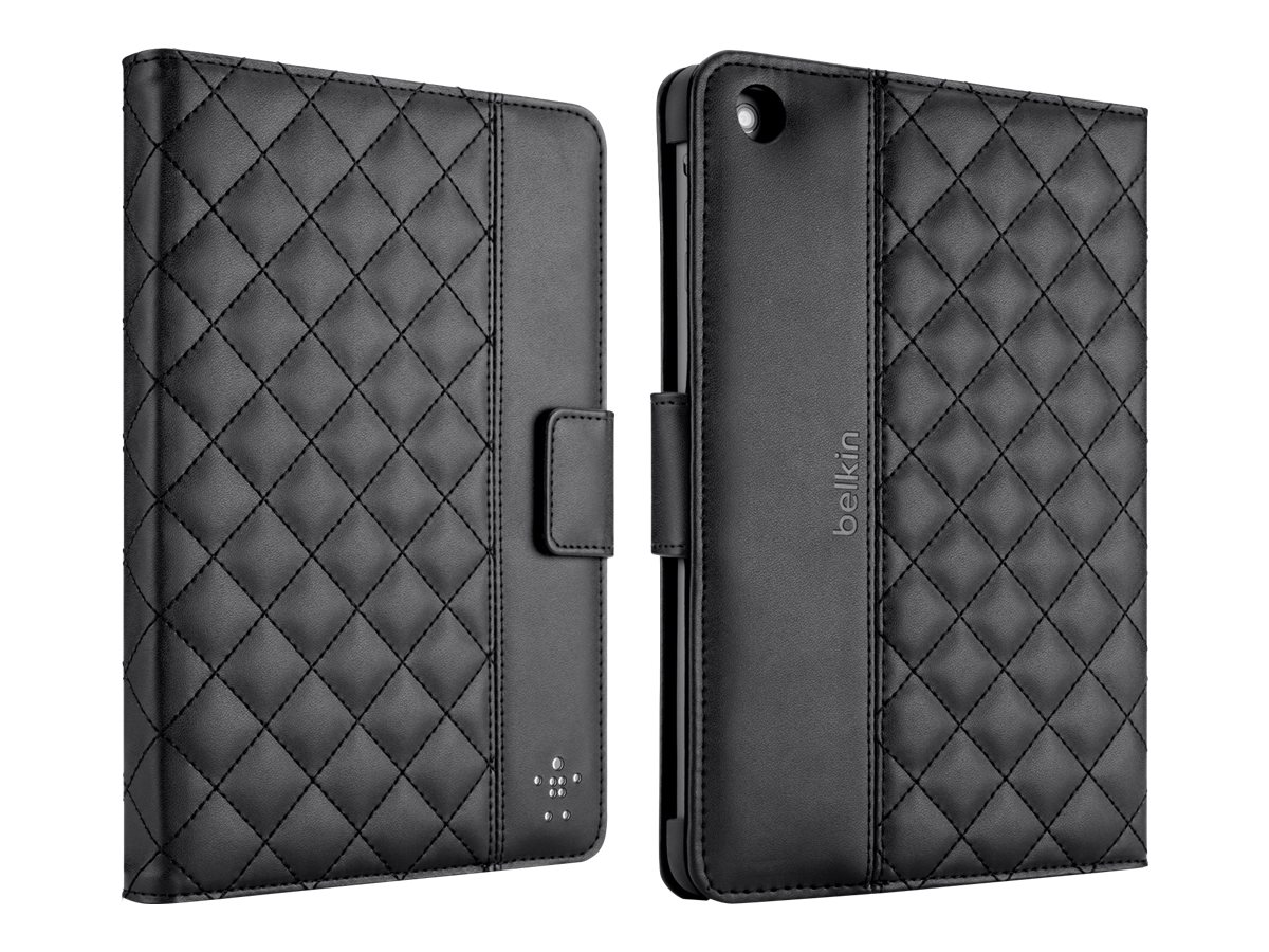 Belkin Quilted Cover with Stand for iPad mini, Black, F7N007TTC00