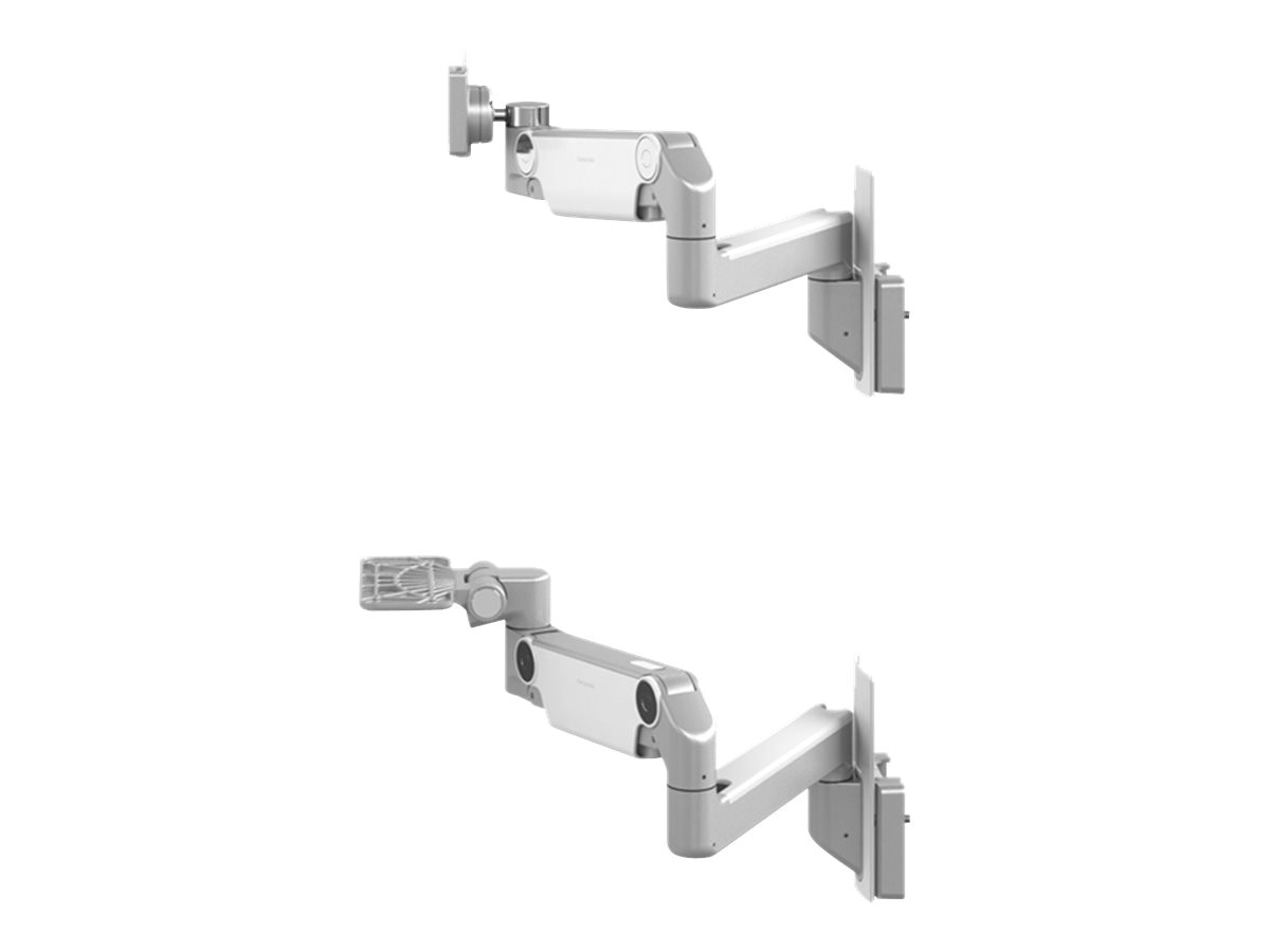 Humanscale (2) Mounting Arms (12 Straight 12 Adjustable) for V6 Wall Station