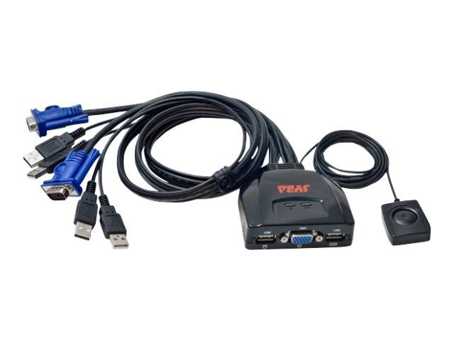 Syba 2-Port USB VGA KVM w  Remote Auto Scan Mode for Monitoring PC