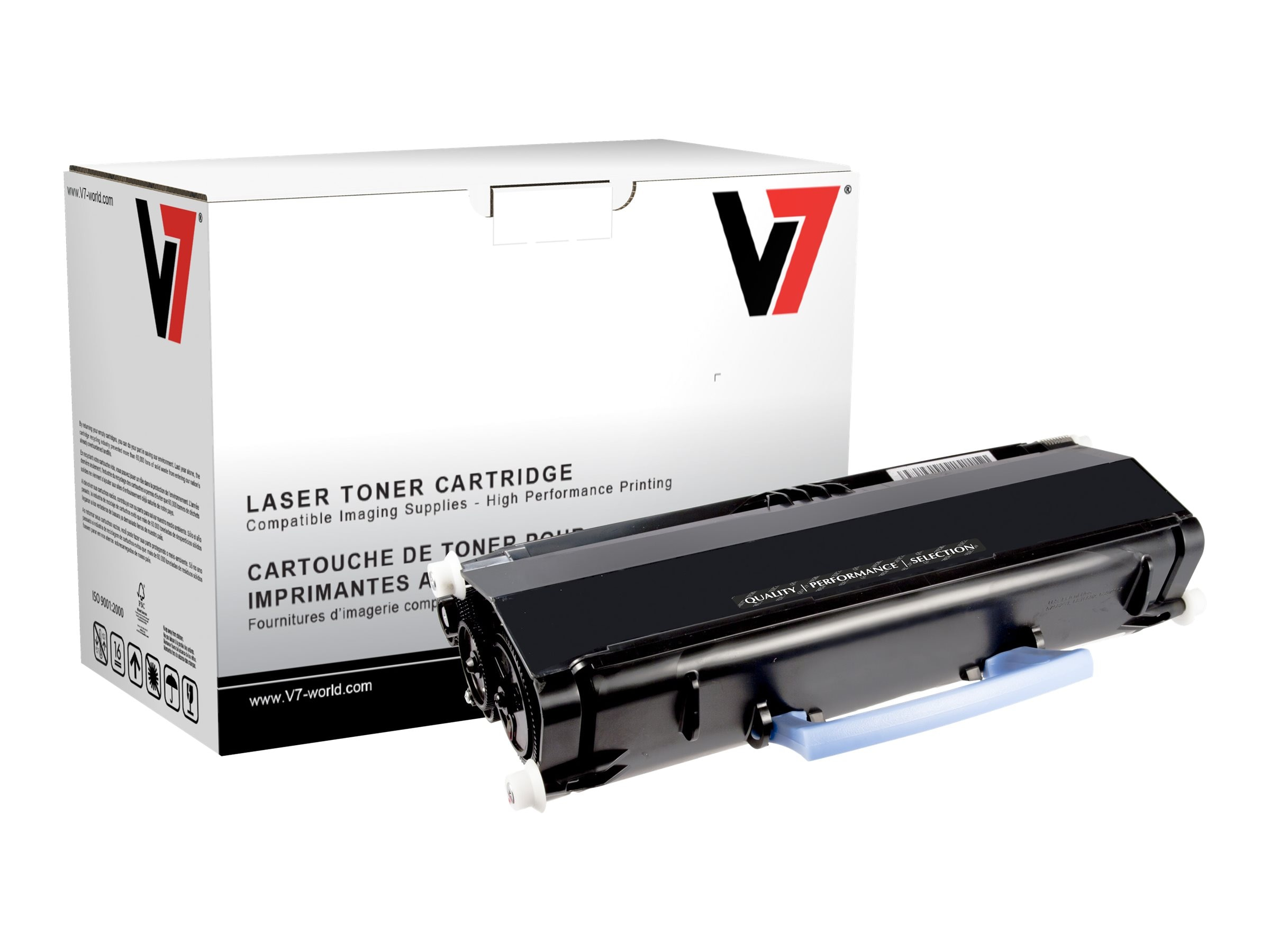V7 330-2666 Black Toner Cartridge for Dell 2330dn (TAA Compliant)