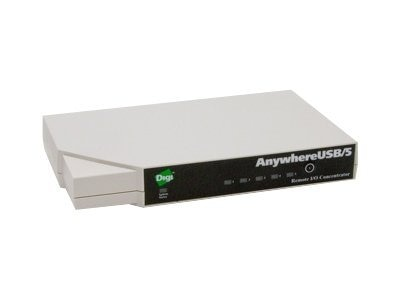 Digi AnywhereUSB 5 with Multi-Host Connections, AW-USB-5M-W, 16820302, USB & Firewire Hubs