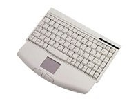 Adesso Mini-Touch Keyboard with Touchpad - PS 2 (White), ACK-540PW, 435909, Keyboards & Keypads