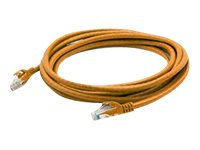 ACP-EP CAT6A UTP Snagless Booted Patch Cable, Orange, 25ft