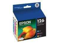 Epson Color 126 High-Capacity Ink Cartridges (Multi-pack), T126520, 11463342, Ink Cartridges & Ink Refill Kits
