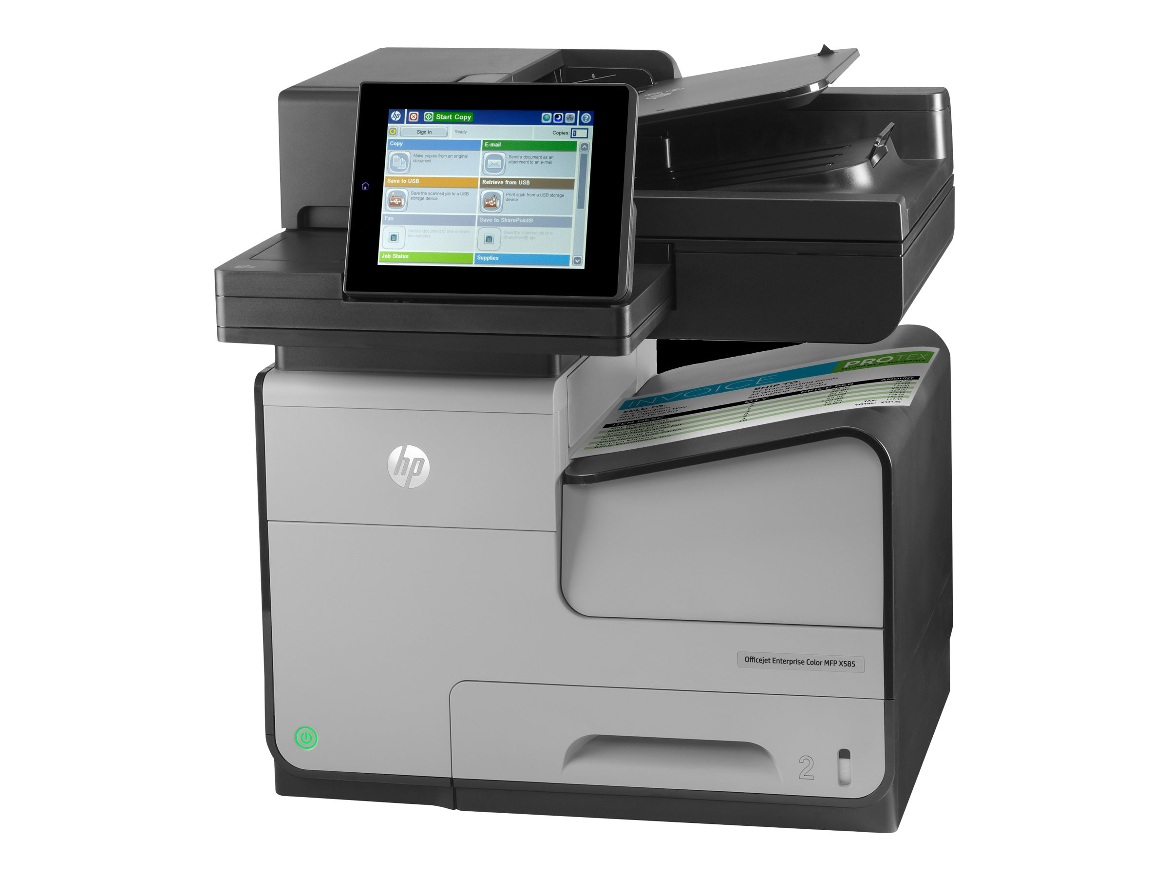 HP Officejet Ent. Color Flow X585z MFP Printer, B5L06A#BGJ