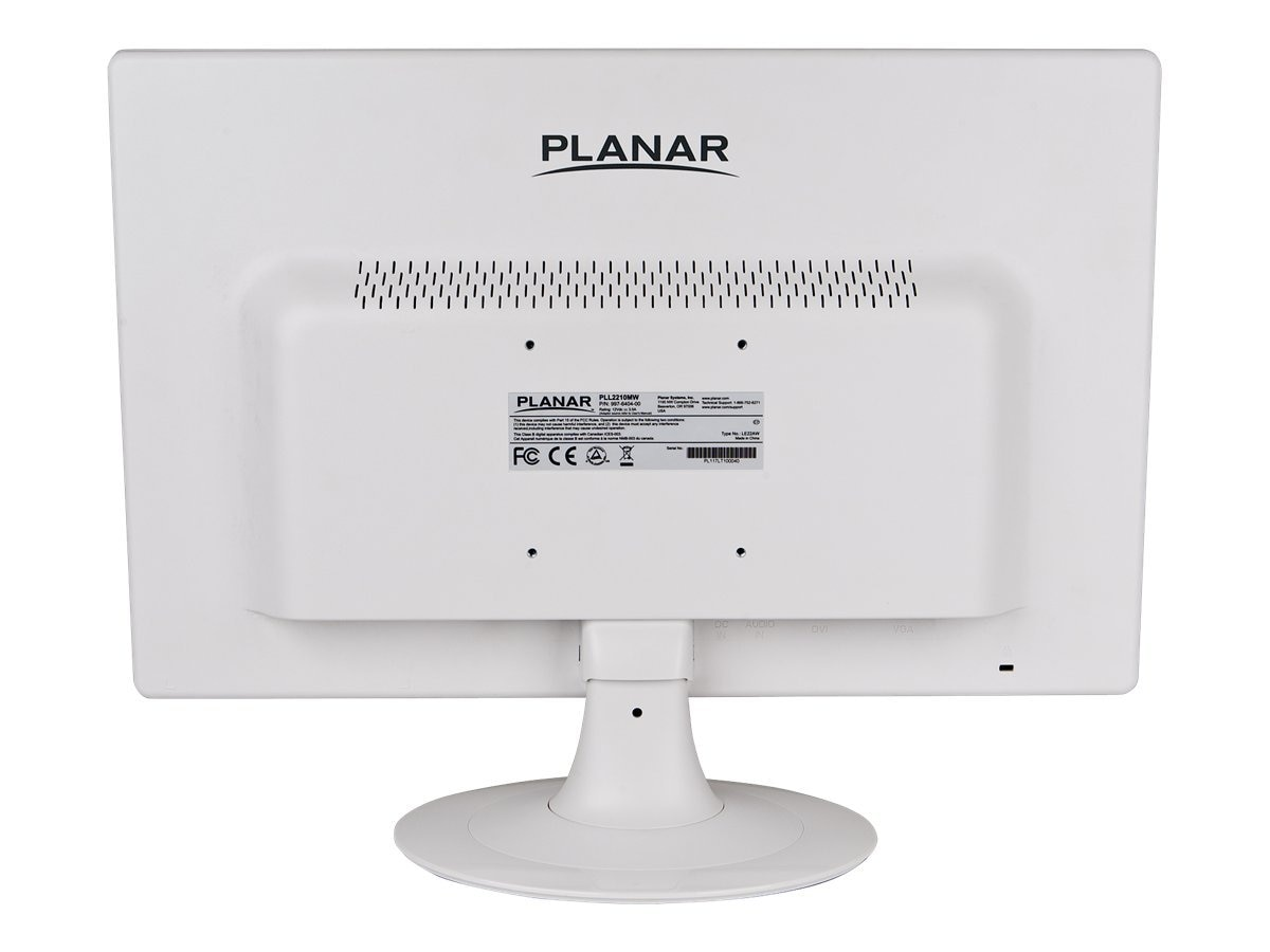 Planar 22 PLL2210MW Widescreen LED-LCD Monitor with Speaker, White, 997-6404-00