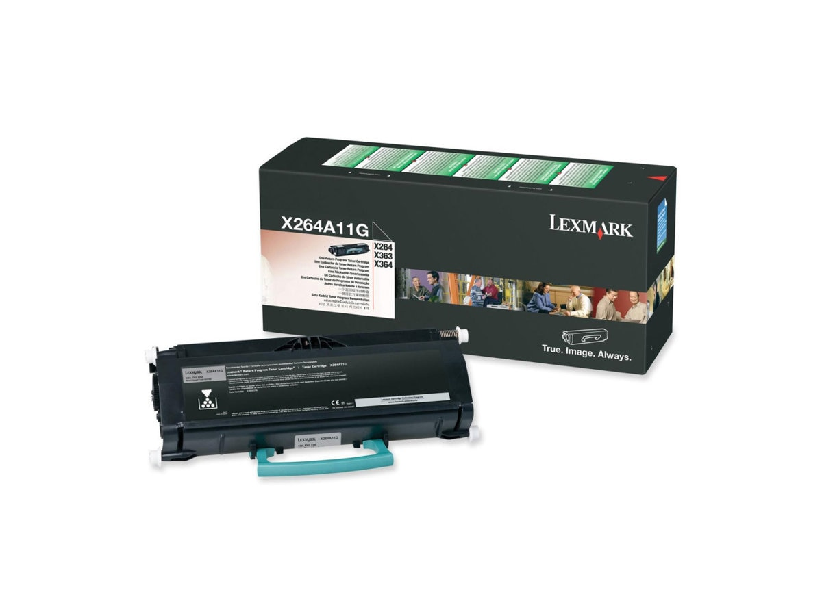 Lexmark Black Return Program Toner Cartridge for X264dn, X363dn & X364 Series MFPs, X264A11G, 9644620, Toner and Imaging Components