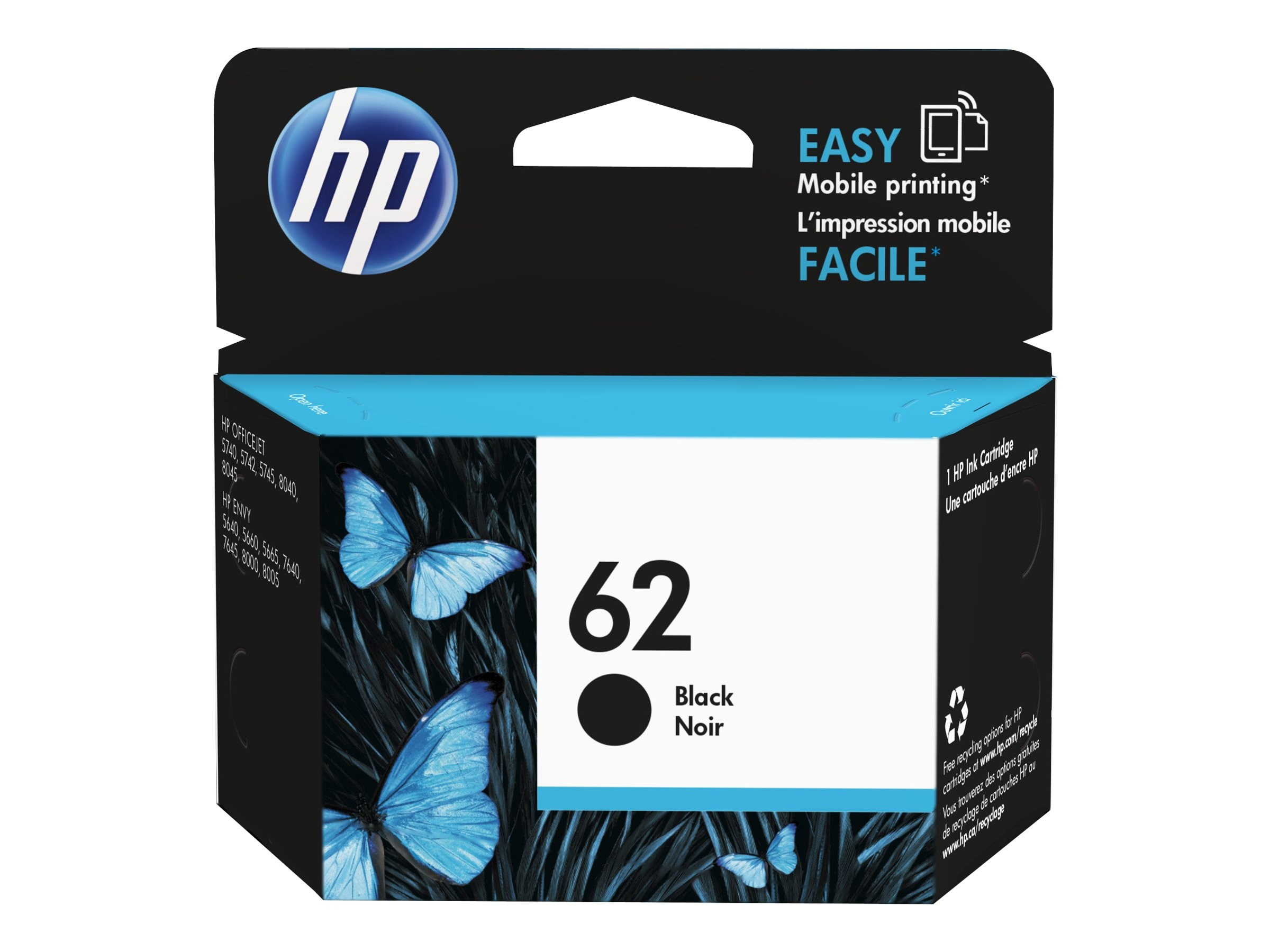 HP 62 (C2P04AN) Black Original Ink Cartridge