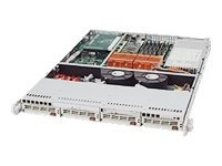 Supermicro Chassis, 1U Rackmount, EATX, 4xU320 SCSI, CD, FDD, 500W PS, Beige, CSE-813S-500C, 6417843, Cases - Systems/Servers