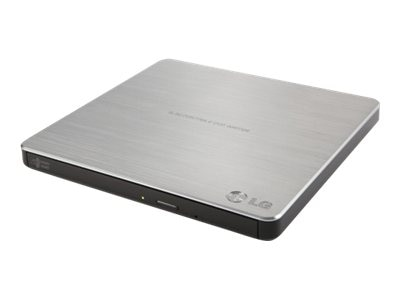 LG 8x Super Multi Portable DVD ReWriter w  M-Disc Support - Silver, GP60NS50