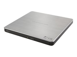 LG 8x Super Multi Portable DVD ReWriter w  M-Disc Support - Silver, GP60NS50, 15625169, DVD Drives - External