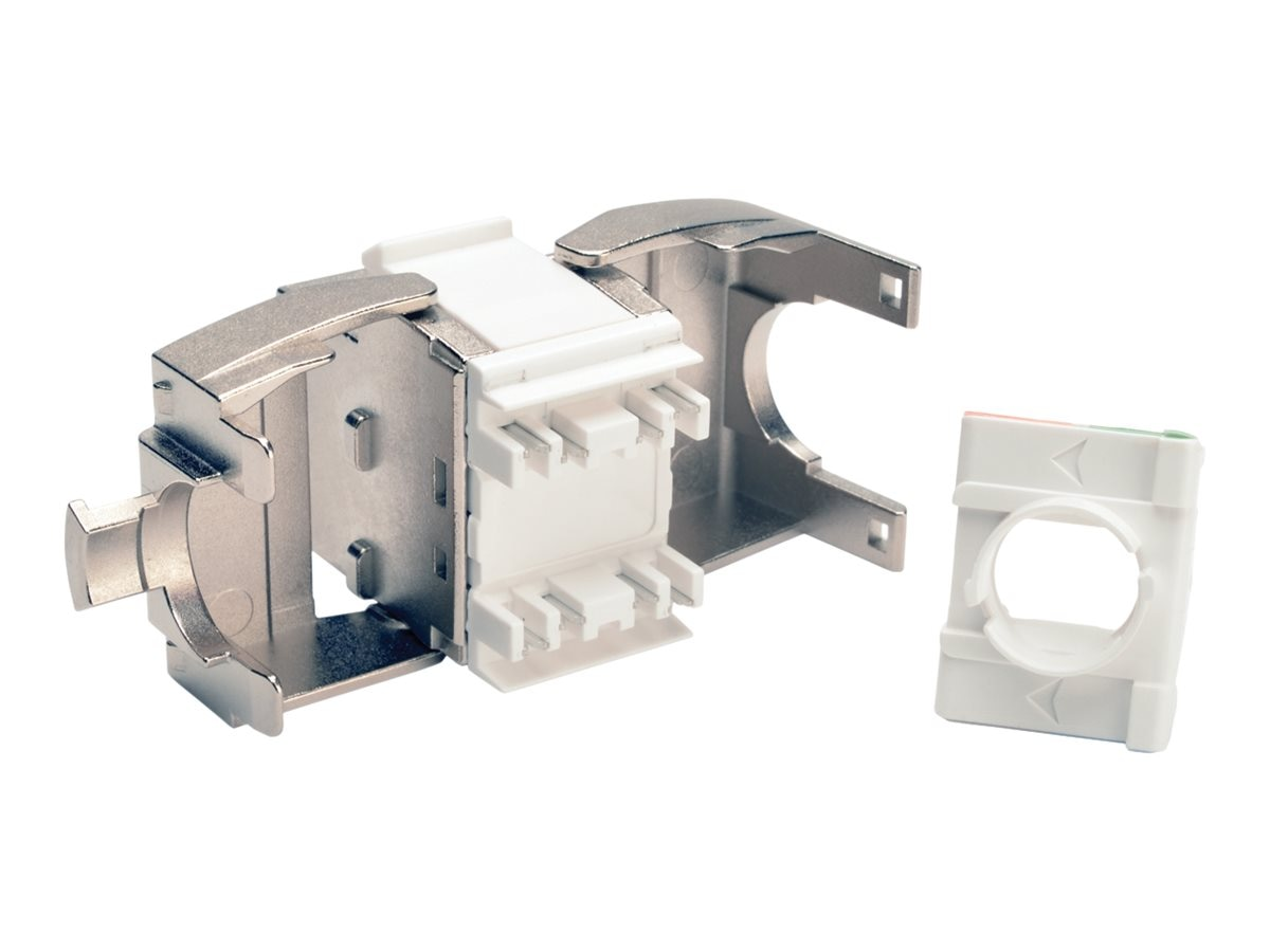 Tripp Lite Toolless Shielded Cat6a Keystone Jack, Gray, N238-001-SH-TFA