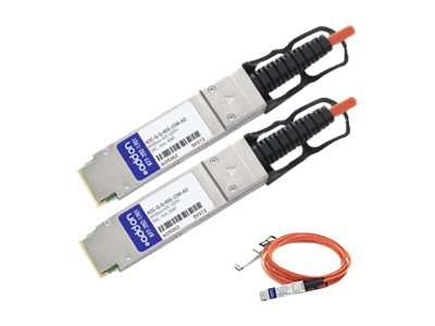 ACP-EP QSFP+ to QSFP+ 40GbE Active Optical Cable, 15m, AOC-Q-Q-40G-15M-AO