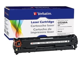 Refurb. Verbatim HP CE260A Black Remanufactured laser toner cartridge, 98340, 16003231, Toner and Imaging Components