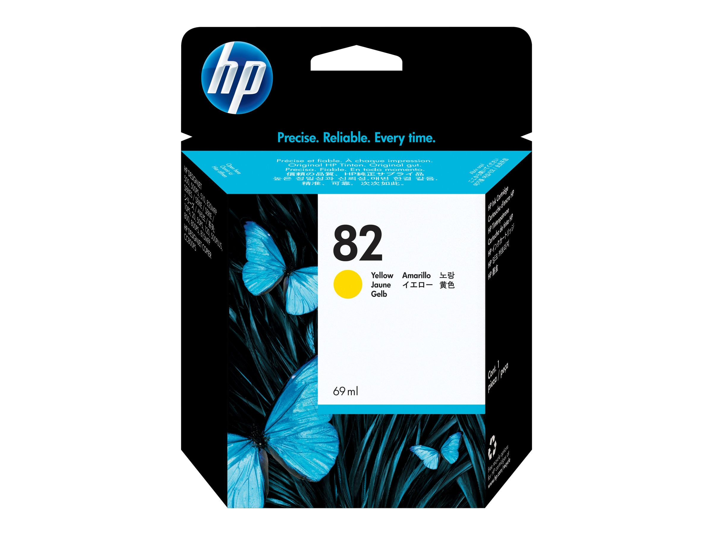 HP 82 Yellow Ink Cartridge C4913A, C4913A
