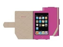 Belkin Leather Folio for iPod touch (2nd Gen), Pink, F8Z373-PNK, 9086023, Carrying Cases - iPod