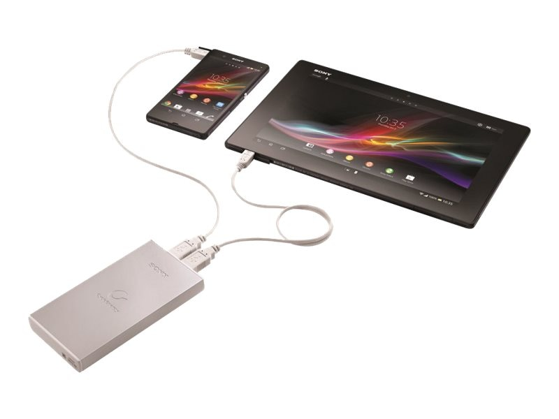 Sony Portable Power Supply, 10,000mAh, Gray, CPF10LS, 30719796, Batteries - Other