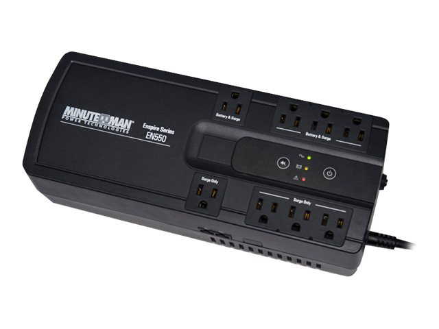 Minuteman 550VA Enspire Series UPS (4) Battery Surge Outlets, USB