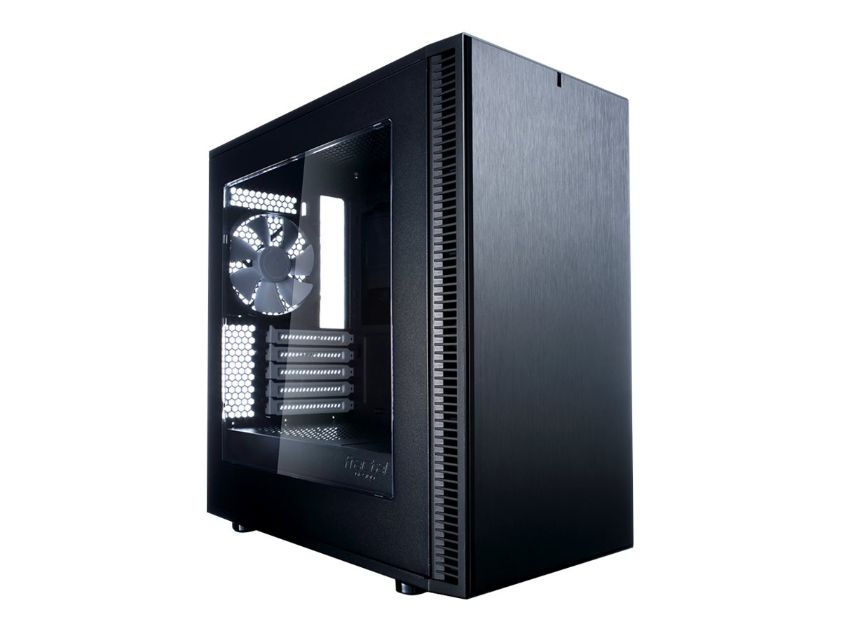 Fractal Design Chassis, Define Mini C Window Micro ATX 2x3.5 Bays 3x5.25 Bays 5xSlots, Black
