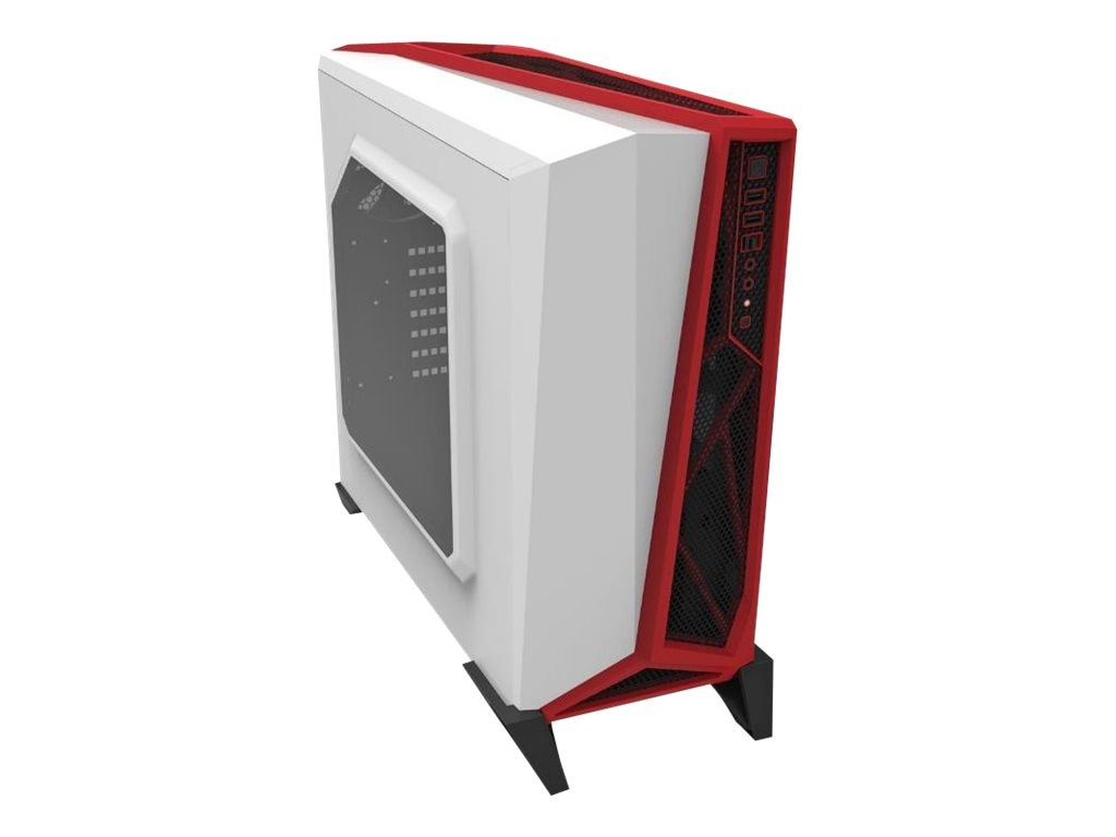 Corsair Chassis, Carbide Alpha Mod Tower Gaming, White Red, CC-9011083-WW, 30968080, Cases - Systems/Servers