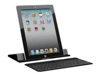 Adesso Compagno X-Aluminum 84-key USB BT Keyboard w  Stand Black for Tablets Windows 8