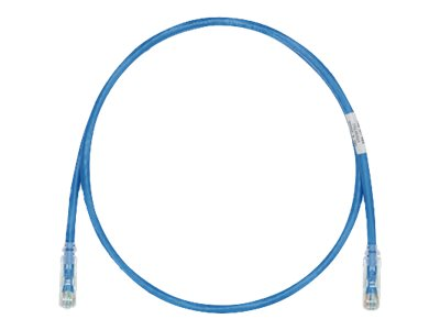 Panduit Cat6e Copper Patch Cable, Blue, 2ft