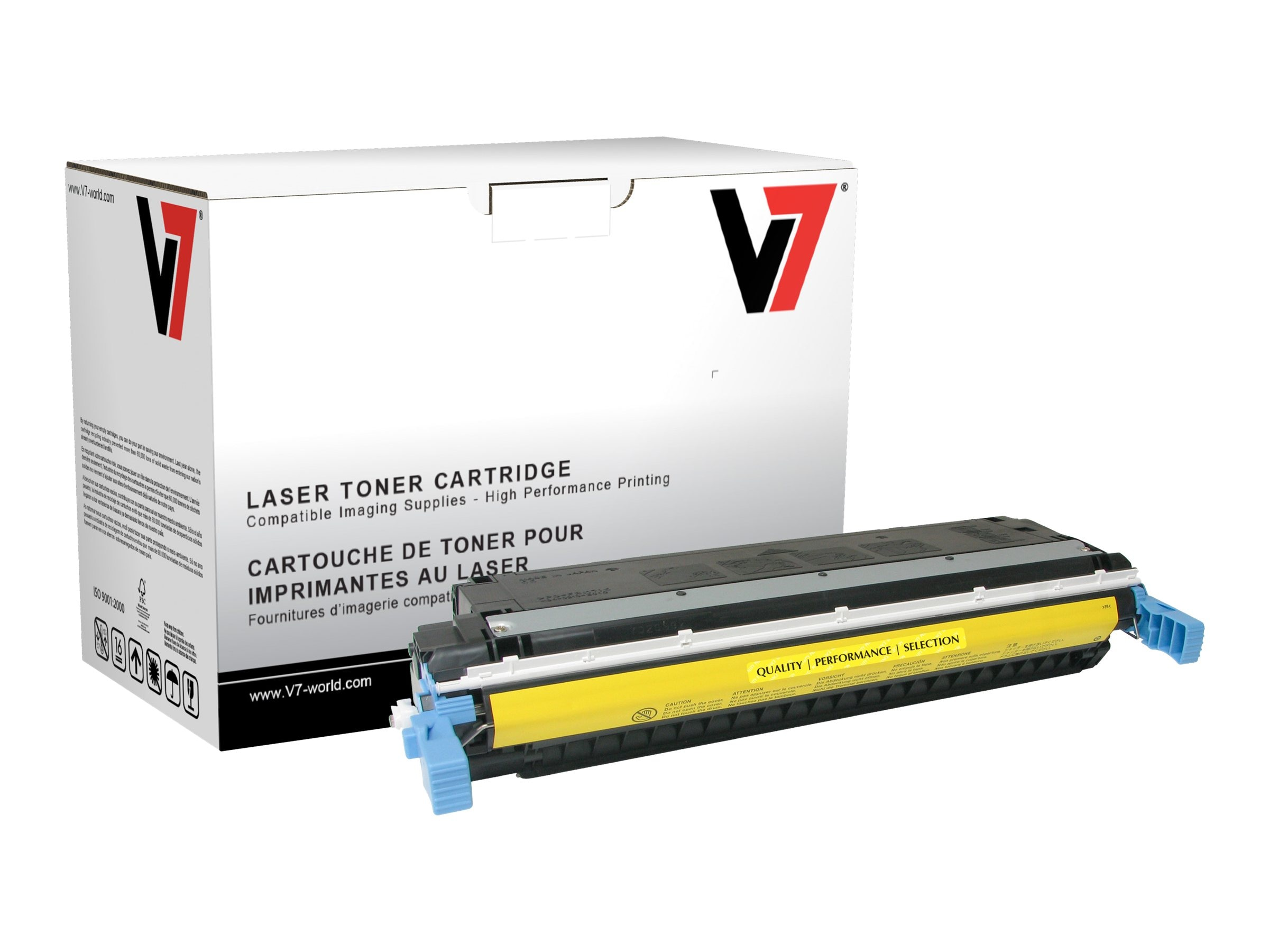 V7 C9732A Yellow Toner Cartridge for HP LaserJet 5500 (TAA Compliant)