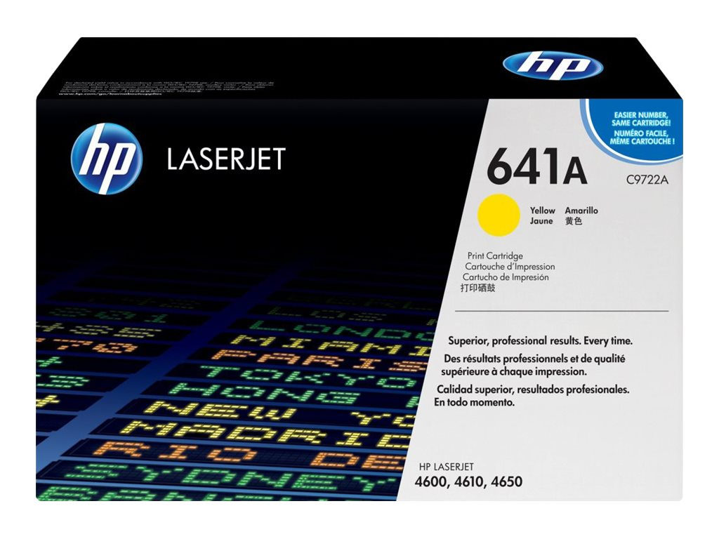 HP 641A (C9722A) Yellow Original LaserJet Toner Cartridge for HP LaserJet 4600 Series Printers