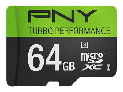 PNY 64GB Micro SDXC UHS-I Flash Memory Card, Class 10, P-SDUX64U390G-GE, 20996811, Memory - Flash