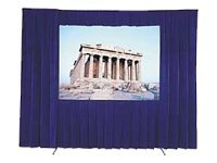 Da-Lite Velour Drapery Kit with Polycase for Fast-Fold Frame, 6' x 8', 88738P, 10902841, Projector Screen Accessories