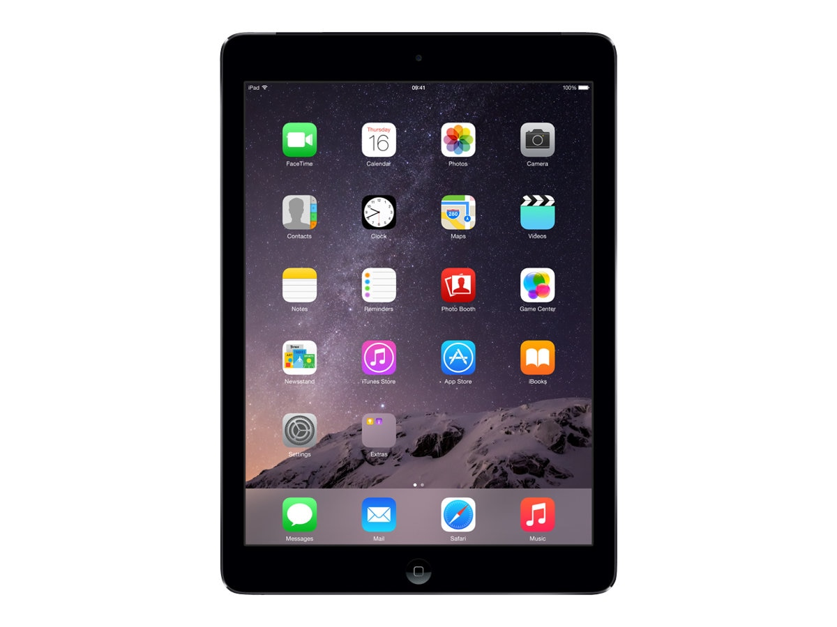 Apple iPad Air, 16GB, Wi-Fi+Cellular (AT&T), Space Gray, ME991LL/B, 17955170, Tablets - iPad