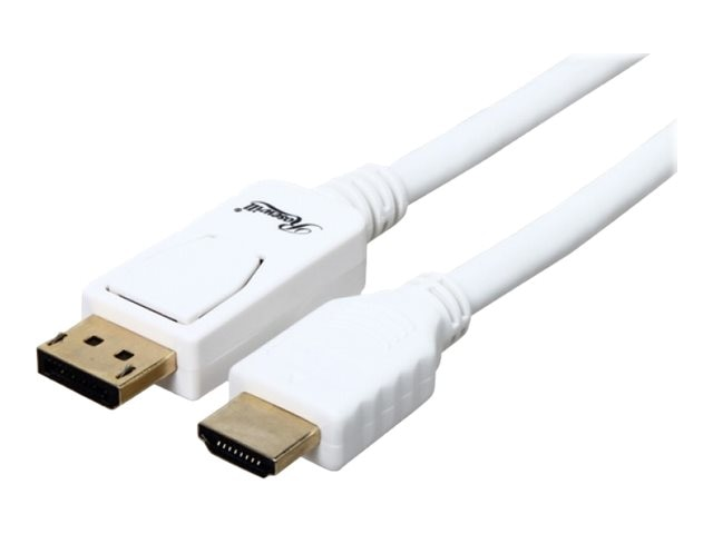 Rosewill 28AWG DisplayPort to HDMI M M Cable, White, 3ft
