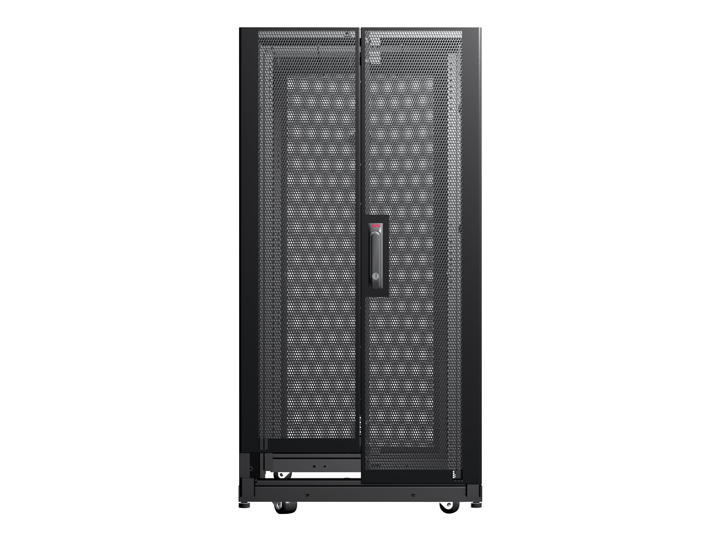 APC NetShelter AV 24U 600mm W x 825mm D Enclosure, Sides, 10-32 Threaded Rails, Black, AR3814