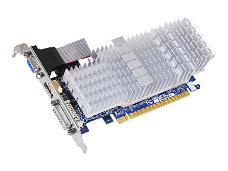 Gigabyte Tech GeForce GT610 PCIe 2.0 x16 Graphics Card, 2GB DDR3, GV-N610SL-2GL, 17287280, Graphics/Video Accelerators