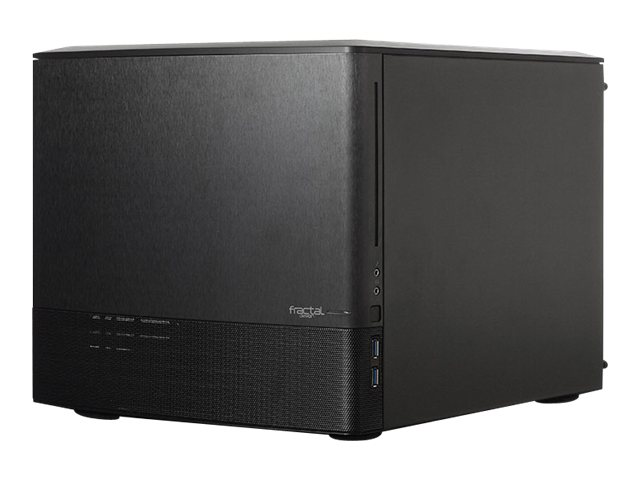 Fractal Design Chassis, Node 804 Micro-ATX Mini-ITX 8x3.5 Bays 5xSlots No PSU, FD-CA-NODE-804-BL, 17320043, Cases - Systems/Servers