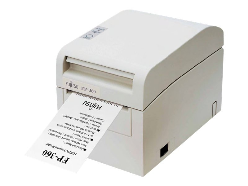 Fujitsu FP-360 Dual Interface Serial & USB Single Station Thermal Printer - White w  AC Adapter, KA02054-D717, 12402701, Printers - POS Receipt