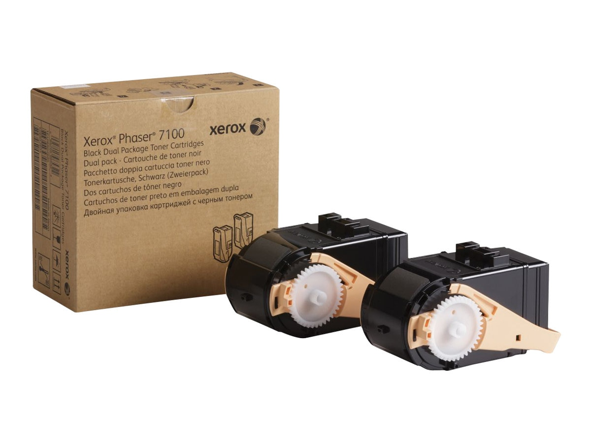 Xerox Black Toner Cartridges for Phaser 7100 Series (2-pack), 106R02605
