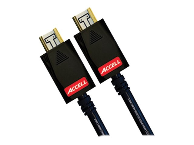 Accell AVGrip Pro Locking High Speed HDMI Cable, Black, 1ft