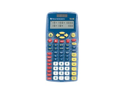 TI TI-15 Explorer School Calculator, 15/PWB/2L1/A, 7001102, Calculators